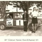 Il fallait même de temps en temps faire de la pub pour le port de la ceinture de sécurité. Michèle, ma maman, à droite sur la photo.